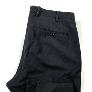 Incotex Straight Career Flat Front 100% Wool Pants